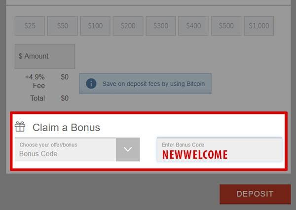 Bovada Casino Bonus Code: FTR