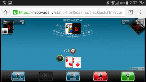 Bovada Mobile Blackjack