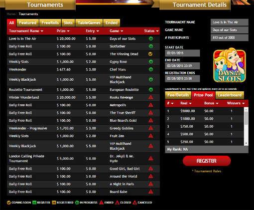 Drake Casino Tournaments