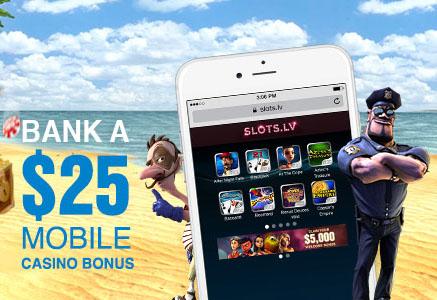 Slots.lv Mobile Bonus