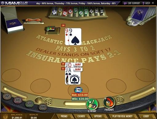 Miami Club Casino Blackjack