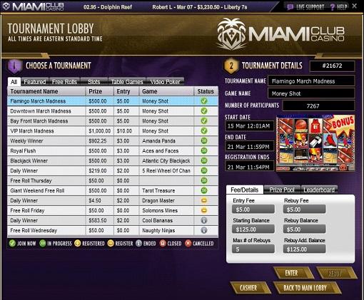 Miami Club Casino Tournaments